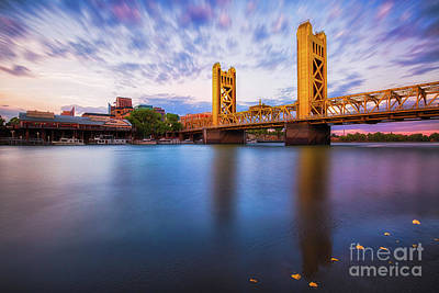 Photograph - Tower Bridge Sacramento 3 by Anthony Michael Bonafede