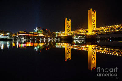 Photograph - Tower Bridge Sacramento by Anthony Michael Bonafede