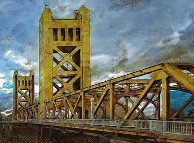 Photograph - Tower Bridge - Sacramento by Thom Zehrfeld