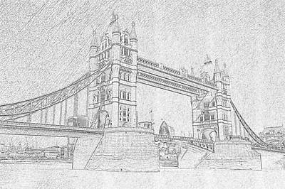Photograph - Tower Bridge Sketch by Prashant Meswani