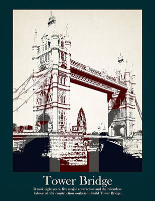 Buckingham Palace Photograph - Tower Bridge by Stephanie Hamilton