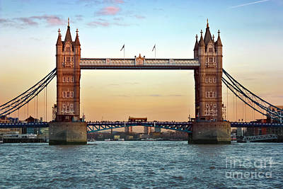 Photograph - Tower Bridge- Sunset In London by Terri Waters