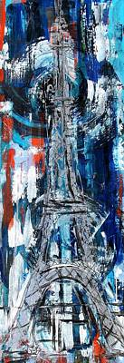 Wonders Of The World Painting - Tower Eiffel by J Vincent Scarpace