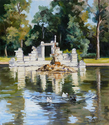 Painting - Tower Grove Park St.louis Summer by Irek Szelag