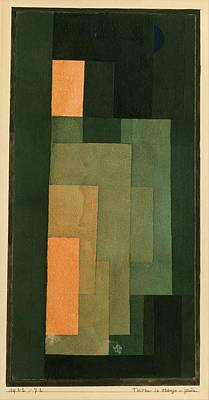 Painting - Tower In Orange And Green by Paul Klee