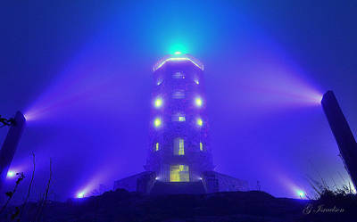 Photograph - Tower In The Mist by Gregory Israelson