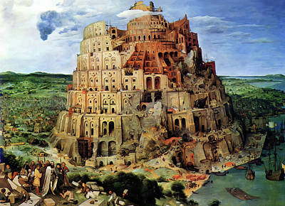 Tower Of Babel Art Print by Pieter Bruegel