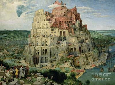 Masonry Painting - Tower Of Babel by Pieter the Elder Bruegel