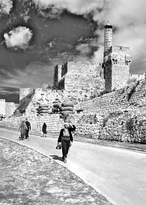 Tower Of David Photograph - Tower Of David 1948 by Munir Alawi