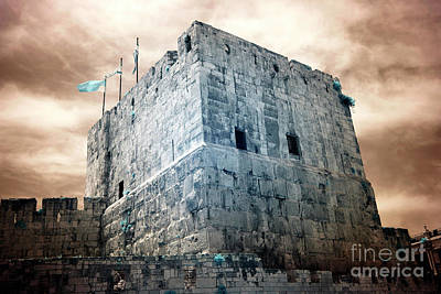 Photograph - Tower Of David Infrared by John Rizzuto