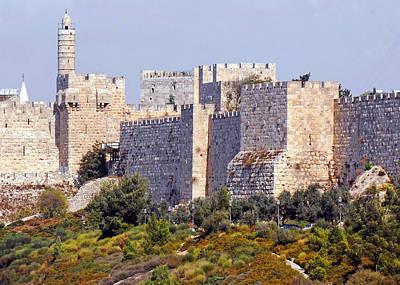Tower Of David Photograph - Tower Of David Walls by Munir Alawi
