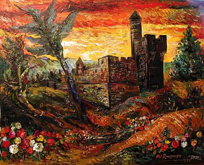 Roussimoff Wall Art - Painting - Tower Of King David by Ari Roussimoff