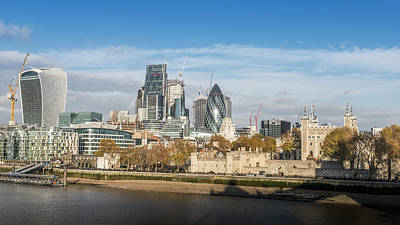 Photograph - Tower Of London And City by Alexandre Rotenberg