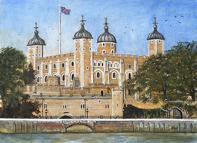 Tower Of London Art Print by Carol Williams