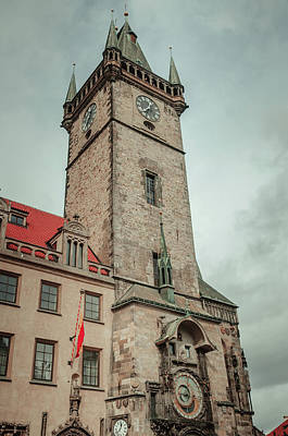 Astronomical Clock Photograph - Tower Of Old Town Hall In Prague by Jenny Rainbow