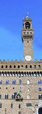 Digital Art - Tower Of Palazzo Vecchio by Irina Sztukowski