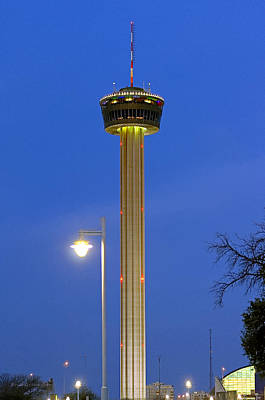Thomas Kinkade Rights Managed Images - Tower of the Americas Royalty-Free Image by Erich Grant