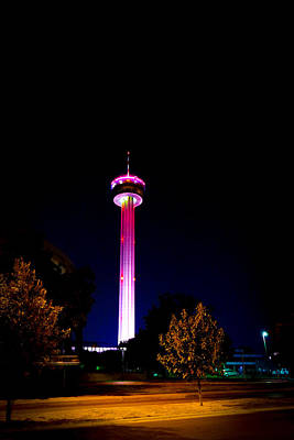 Photograph - Tower Of The Americas October Night by Marisela Mungia