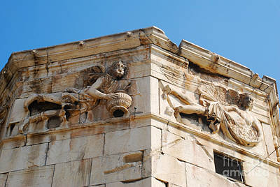 Greek Ruins Photograph - Tower Of The Winds - Stone Carvings by Just Eclectic