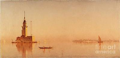 Leander Painting - Tower On The Bosporus by MotionAge Designs