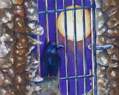 Painting - Tower Raven by Barb Toland
