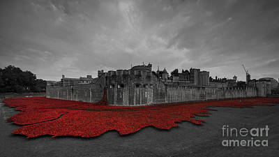 Fallen Soldier Photograph - Tower Red  by Rob Hawkins