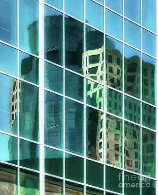 Photograph - Tower Reflections # 3 by Mel Steinhauer