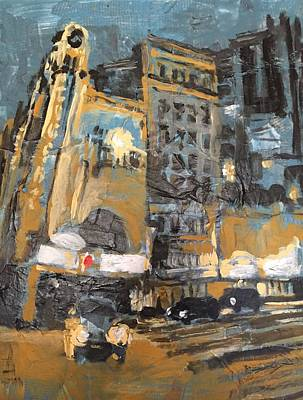 Nightlife Mixed Media - Tower Theater S. Broadway by John Fish