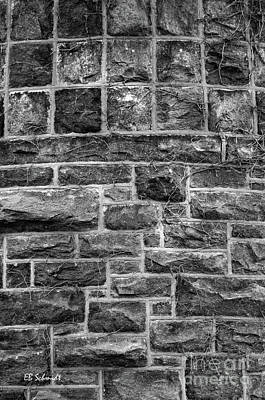 Photograph - Tower Wall Black And White by E B Schmidt