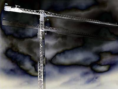Tower Crane Digital Art - Towering 7 by Wendy J St Christopher