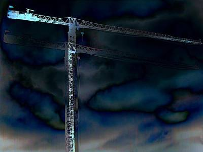 Tower Crane Digital Art - Towering 8 by Wendy J St Christopher