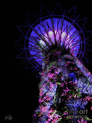 Lightshow Photograph - Towering by Alina Davis