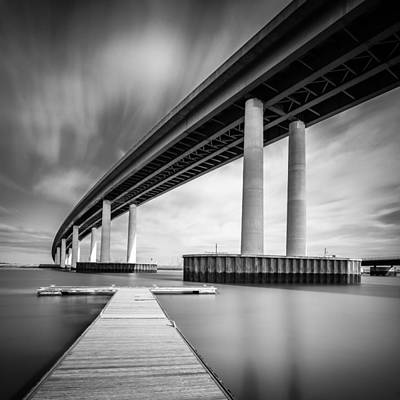 Art Print featuring the photograph Towering Bridge by Gary Gillette