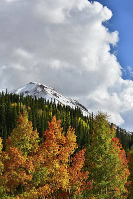 Photograph - Towering Clouds Above Red Mountain And Aspens by Ray Mathis