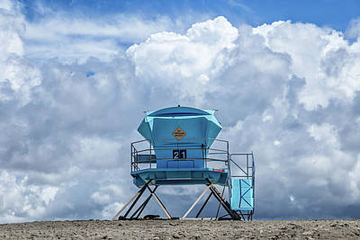 Towering In The Clouds Art Print by Peter Tellone