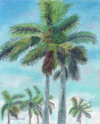 Pastel - Towering Palms by Arlene Crafton