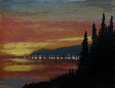 Painting - Towering Sentinels And Distant Shore by R Kyllo