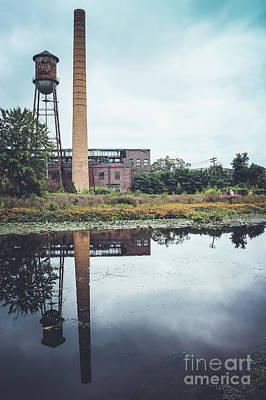 Photograph - Towering Smokestack And Water Tower by Colleen Kammerer