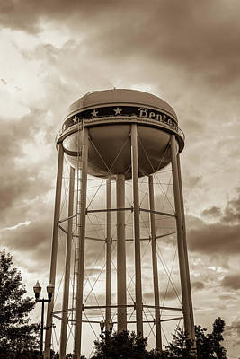 Photograph - Towering Sunset - Bentonville Arkansas Usa - Sepia by Gregory Ballos