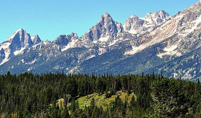Digital Art - Towering Teton Range  by Fred Zilch