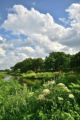 Nippersink Creek Photograph - Towering Thunderheads Over Nippersink Creek by Ray Mathis
