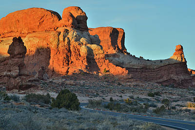 Photograph - Towers Along Park Road In Arches Np by Ray Mathis