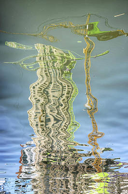 Digital Art - Towers And Cranes Reflected by Frans Blok