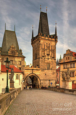 Photograph - Towers At The Charlesbridge by Joerg Lingnau