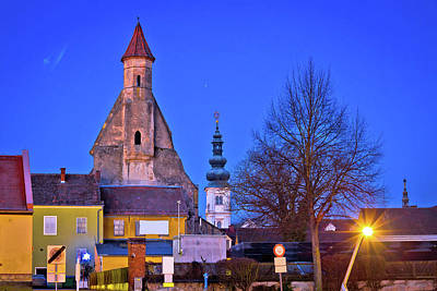 Photograph - Towers Of Bad Radkersburg Evening View by Brch Photography