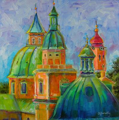 Painting - Towers Of Salzburg by Chris Brandley