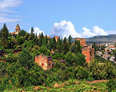 Photograph - Towers Of The Alhambra by Anthony Dezenzio