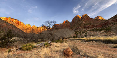 Zion National Park Photograph - Towers Of The Virgin by Chad Dutson