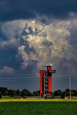 Photograph - Towers Over The Tower by NebraskaSC