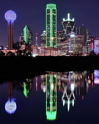 Photograph - Towers Reflect In Dallas by Frozen in Time Fine Art Photography